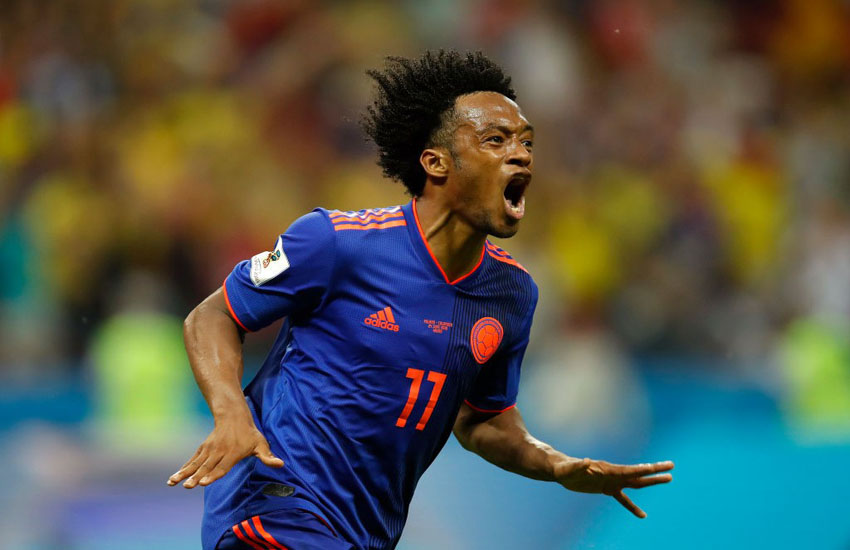 colomvia best player, who will goal to argentina first